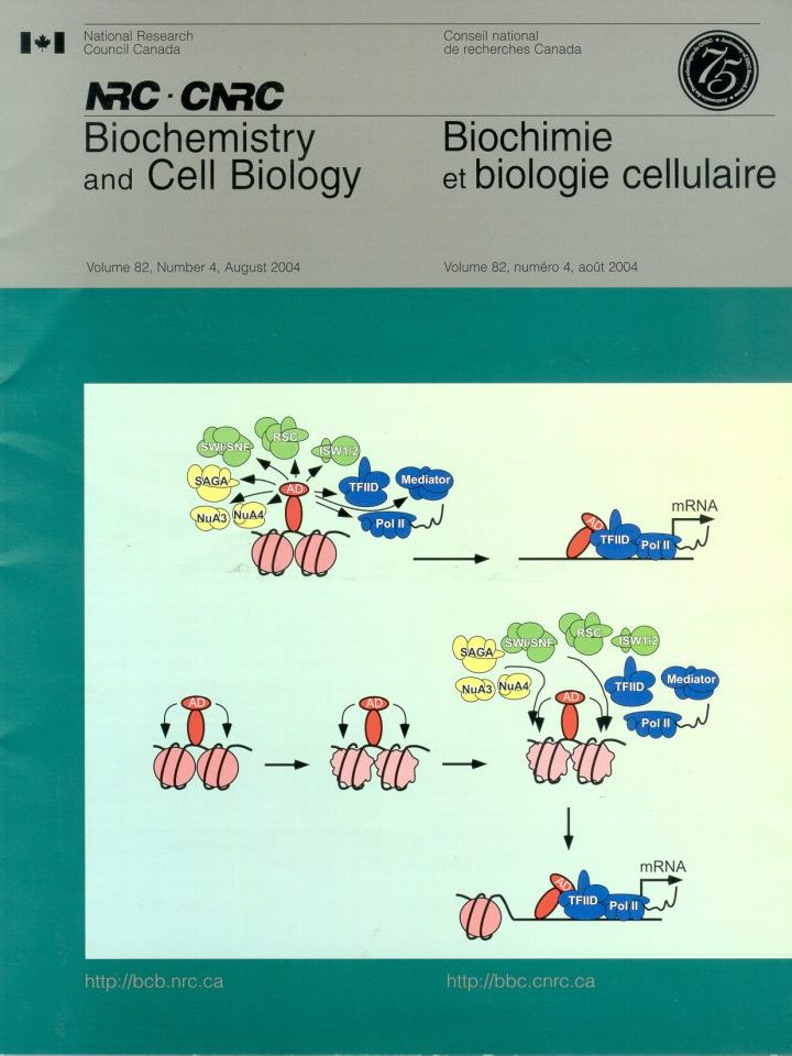 Publications Cover - biochemistry and cell biology